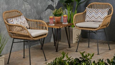 Enger Outdoor Woven Patio Chair With Cushion