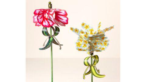 Pirouette Flower Wind Spinner Stake
