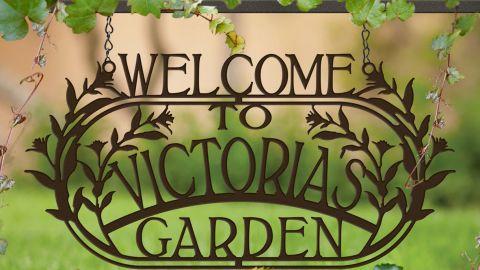 "Langleymetalworks ""Welcome to the Garden"" Custom Garden Sign"