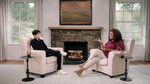 """Actor and producer Elliot Page sits down with Oprah Winfrey in a new interview for """"The Oprah Conversation."""""""