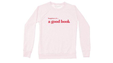 Women's Good Book Crew Sweatshirt, Ballet Pink