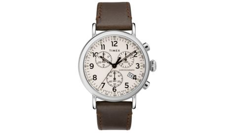 Timex 41-Millimeter Standard Chronograph Leather Strap