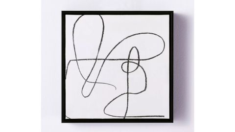 """Threshold """"Scribble"""" Framed Wall Canvas"""