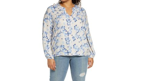 Calson Gathered Detail Woven Top