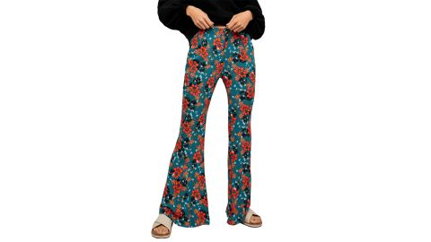 Free People Can't Take My Eyes Off of You Floral Flare Pants