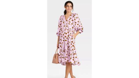 A New Day Women's Long-Sleeve Ruffle Hem Dress