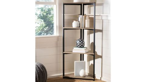 Safavieh Logan 4-Shelf Corner Bookcase