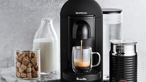 Nespresso by Breville VertuoPlus Deluxe Coffee and Espresso Maker Bundle With Aeroccino