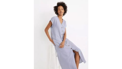 Petite Lightspun Easy Midi Dress