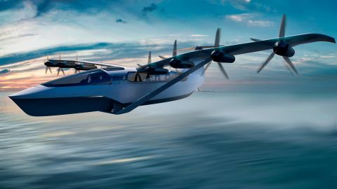 """Boston-based REGENT's """"seaglider"""" is a mix between a boat and an aircraft with a top speed of 180 mph."""
