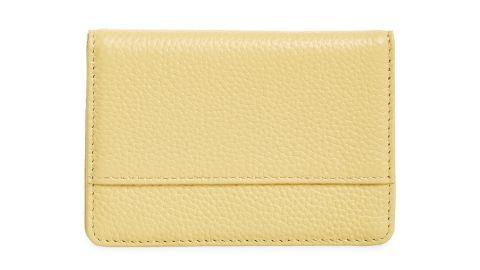 Nordstrom Ruby Pebbled Leather Card Holder