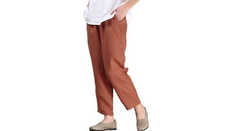 Mordenmiss Women's Linen Ankle Pants