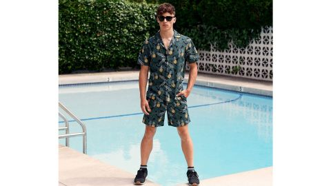 Poplin & Co Banana Pineapple Short-Sleeve Shirt