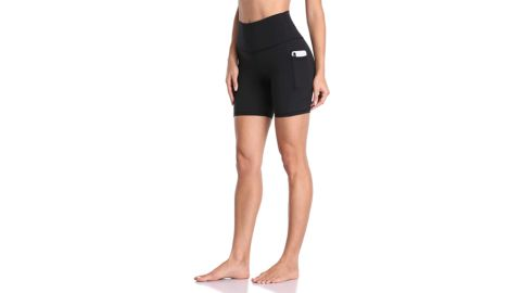 Colorfulkoala Women's High-Waisted Biker Shorts With Pockets