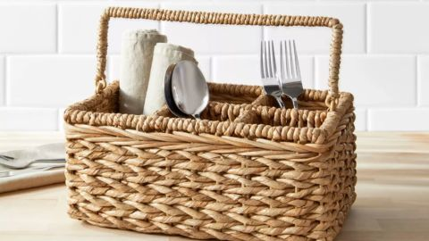 Threshold Chunky Seagrass Woven Utensil Caddy