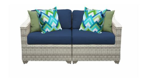 Sol 72 Outdoor Falmouth 70-Inch Wide Outdoor Love Seat With Cushions