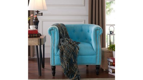 Three Posts Huntingdon Tufted Polyester Chesterfield Chair