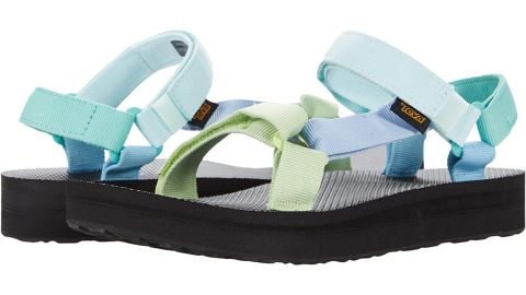 Teva Midform Universal Chunky Sandals in Light Green Multi