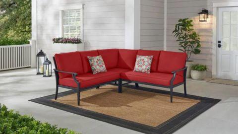 Hampton Bay Braxton Park 3-Piece Patio Sectional Sofa
