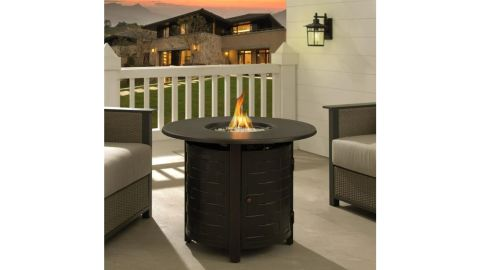 Fire Sense Dylan Outdoor Round Propane Fire Pit