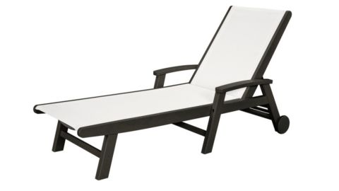 Polywood Coastal Chaise With Wheels