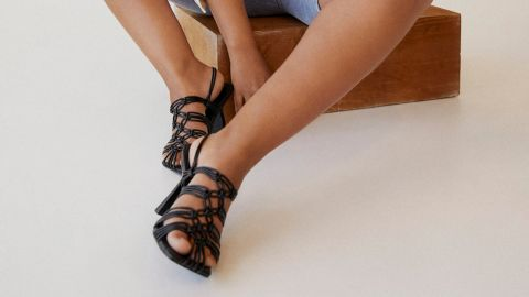 Mango Knots Heel Sandals