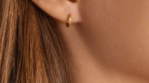 Octavia Elizabeth Micro Gabby 18-Karat Recycled Gold Hoop Earrings