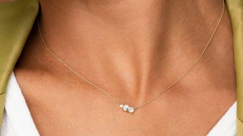 White Sapphire Trio Necklace
