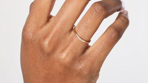 Aurate Diamond Stacker Ring