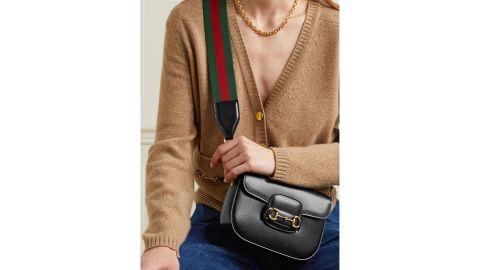 Gucci 1955 Horsebit-Detailed Textured Leather Shoulder Bag