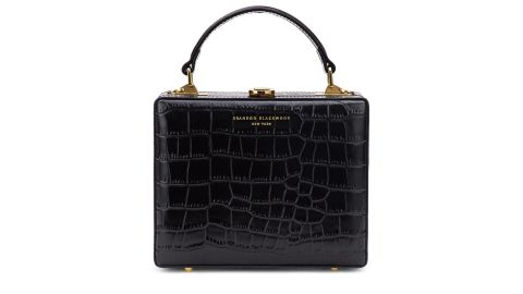 Brandon Blackwood Kendrick Croc-Embossed Box Bag