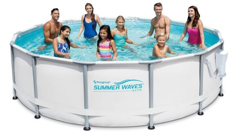 Summer Waves Elite Above-Ground Swimming Pool With Filter Pump and Deluxe Accessory Set