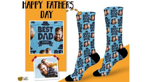 FabSwag Best Dad Ever Socks