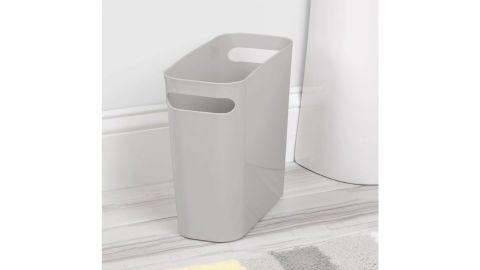mDesign Slim Plastic Wastebaskets With Handles, 2-Pack