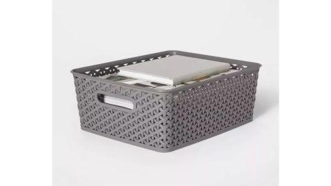 Y-Weave Medium Decorative Storage Basket
