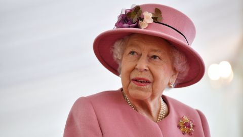 The Queen during a visit to the Defense Science and Technology Laboratory near Salisbury, UK.