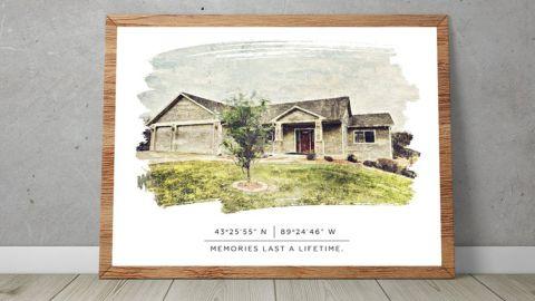 WallTonicArts Custom House Drawing