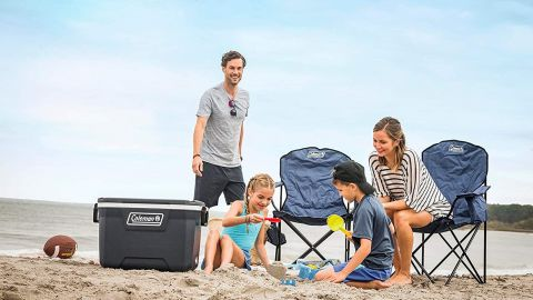 Coleman Camping Chair With Built-In 4-Can Cooler