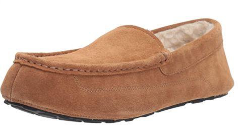 Amazon Essentials Sierra Leather Moccasin Slipper