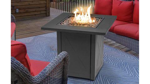 Carren Steel Propane Gas Fire Pit Table