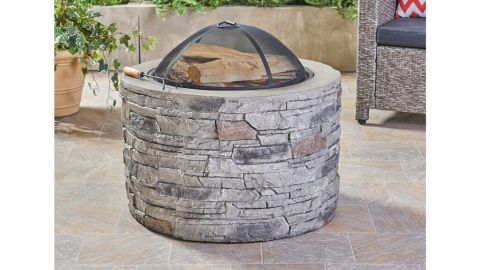Ironton Concrete Wood-Burning Outdoor Fire Pit