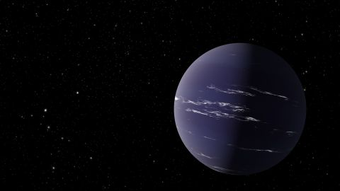 An artist's rendering of TOI-1231 b, a Neptune-like planet about 90 light years away from Earth.