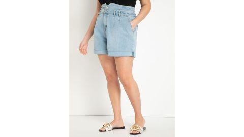 Eloquii High-Waisted Denim Shorts