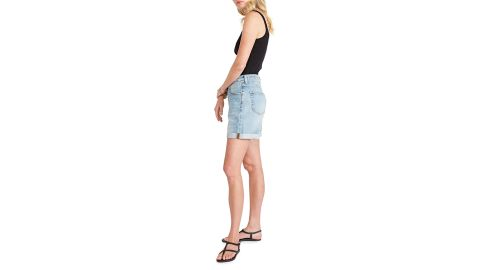 Etica Skylar High-Rise Cuffed Denim Shorts