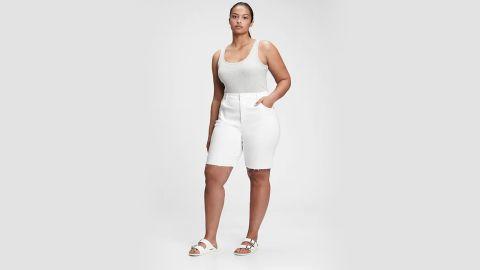 Gap 9-Inch High-Rise Denim Bermuda Shorts With Washwell