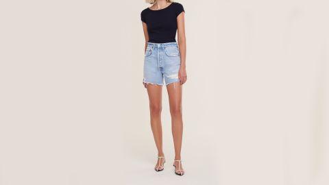 Agolde Riley High-Rise Slim Short