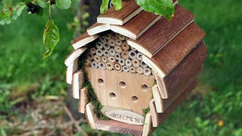 Nature's Market Wooden Bee and Insect Hotel