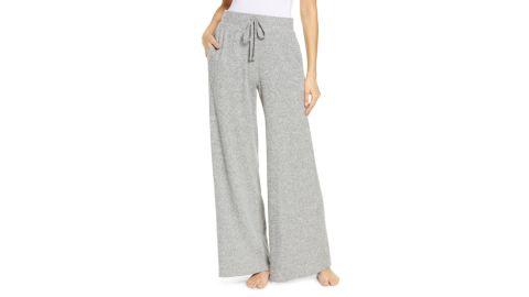 Socialite Brushed Rib Knit Wide Leg Lounge Pants