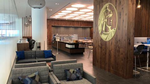 The new Amex Centurion Lounge at New York's LaGuardia airport is one of over 40 lounges worldwide that will be branded with the Centurion name.