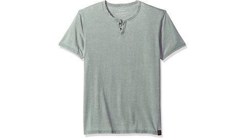Lucky Brand Venice Burnout Notch Neck Tee Shirt